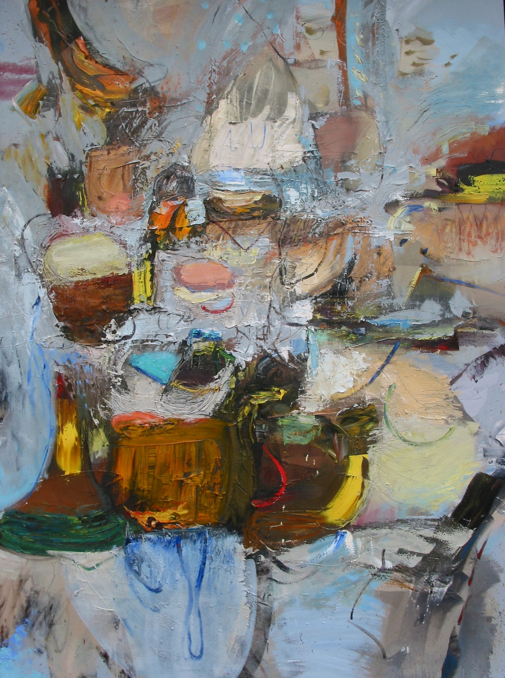 "Jazzing , oil on canvas, 72""H X 54""W, 2008 Collection of Your Part-Time Controller, LLC"
