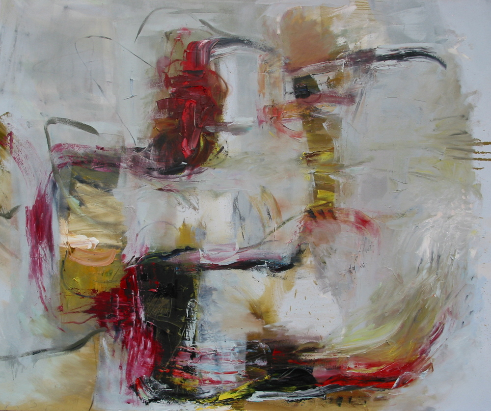"Machination,  oil on canvas 54""H X 64""W, 2008"