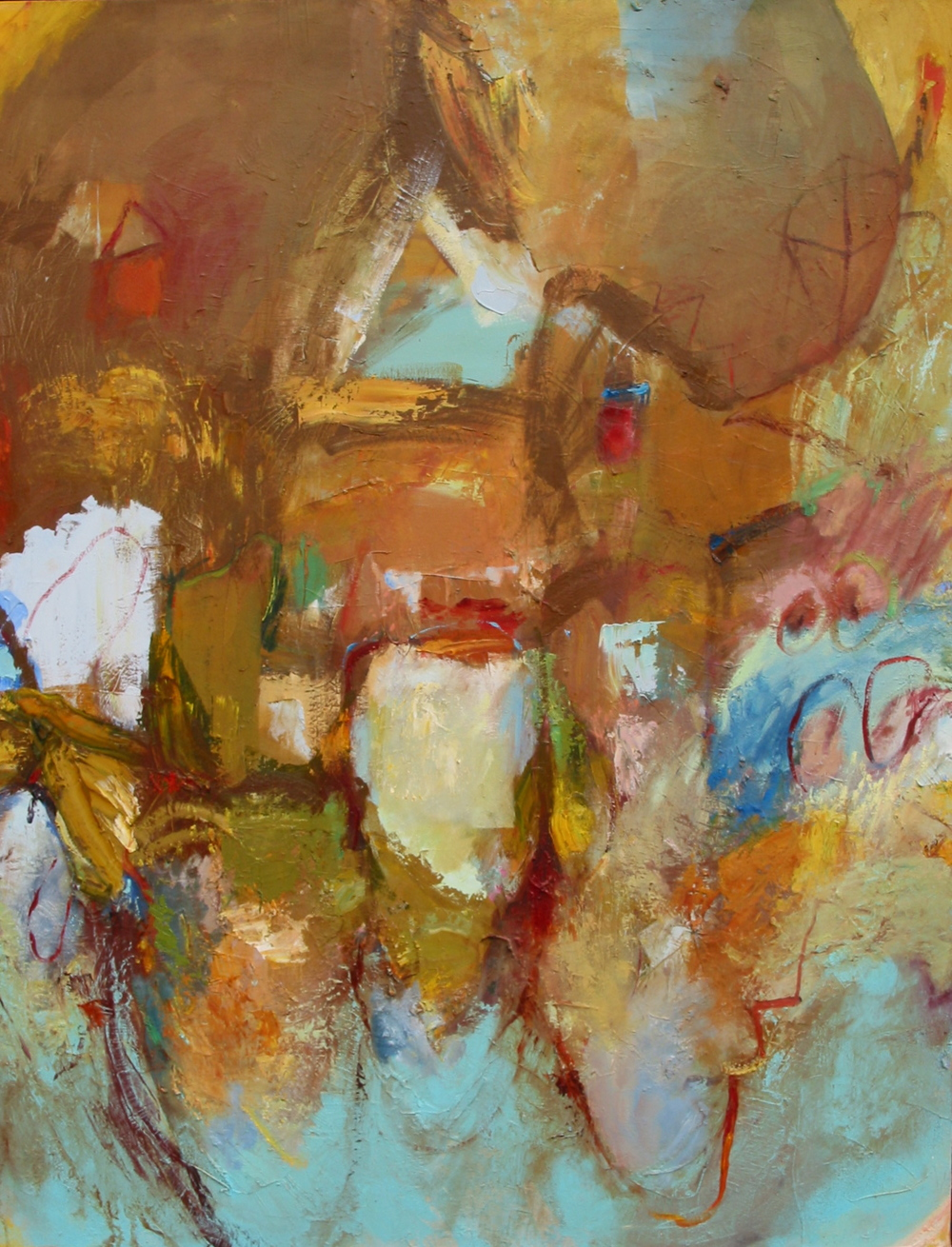 "Mappa , oil on canvas, 62""H X 48""W, 2008"