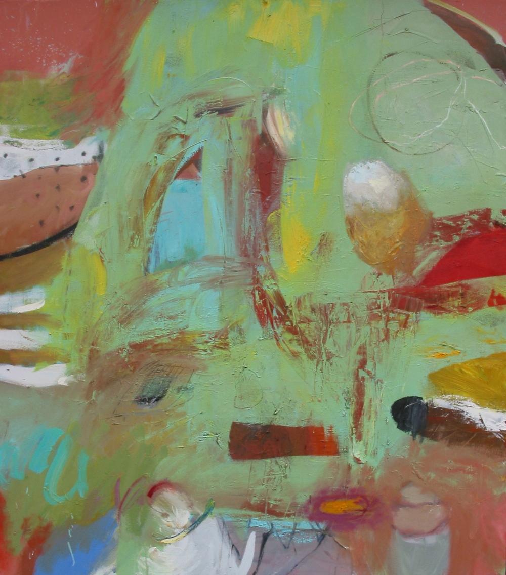 "Refreshment s, oil on canvas 52""H X 46""W (2007)"