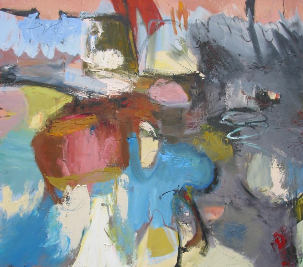 "Marine Life , oil on canvas 48""H X 54""W (2007)"
