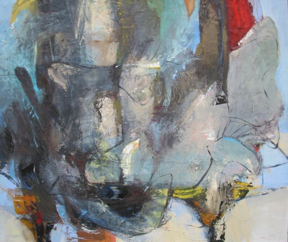 "Nightshift , oil on canvas, 46""H X 48""W, 2007"