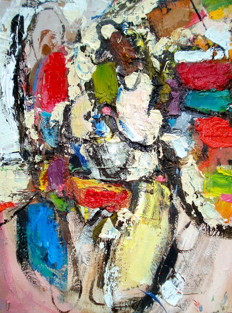 """Small painting 19-A , oil on paper 16""""H X 12""""W (2012) PNC Bank Collection"""