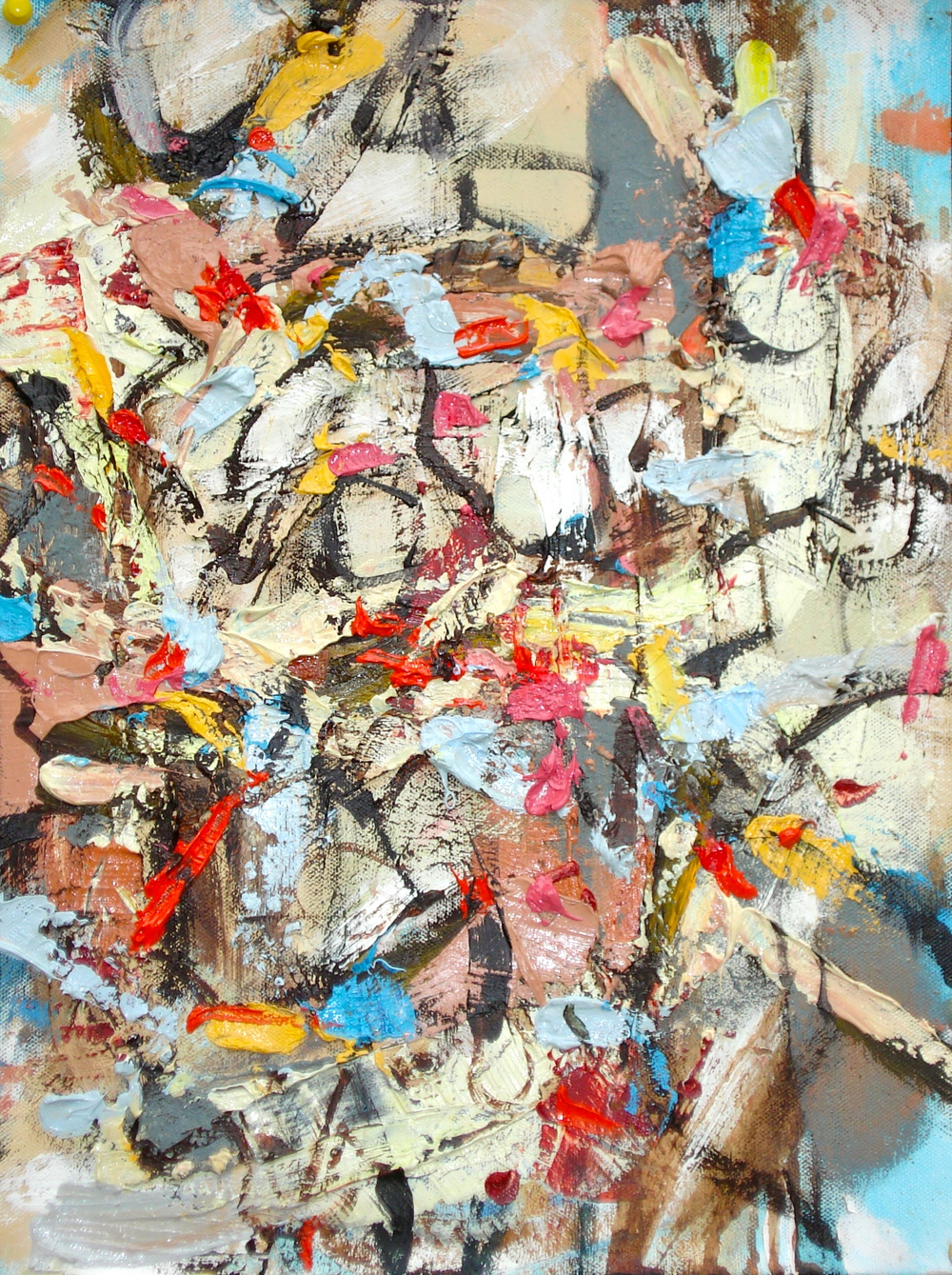 """Small Painting 21-A,  oil on paper 16""""H X 12""""W (2012)"""