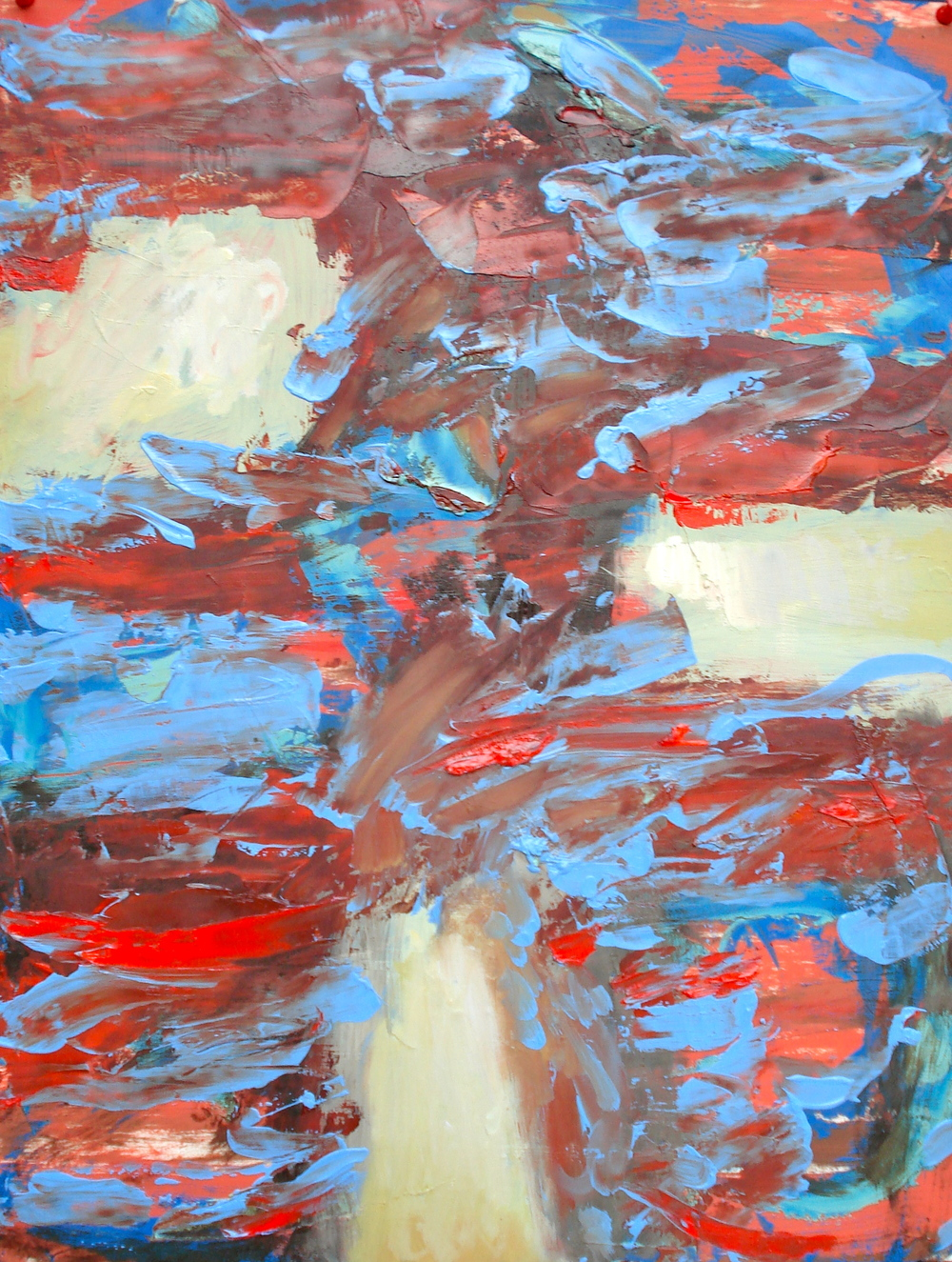 """Small Painting 2-C , oil on paper 24""""H X 18""""W (2012)"""