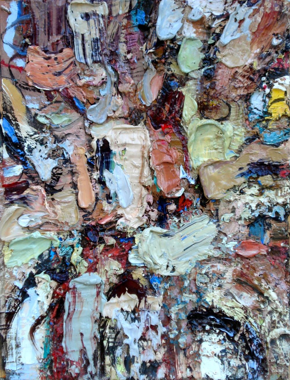 "Litter Bug , oil on paper 16""H X 12""W, 2014"