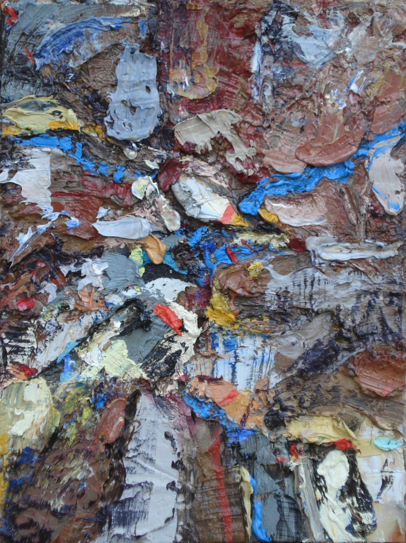 "Pollutants , oil on paper 16""H X 12""W, 2014"