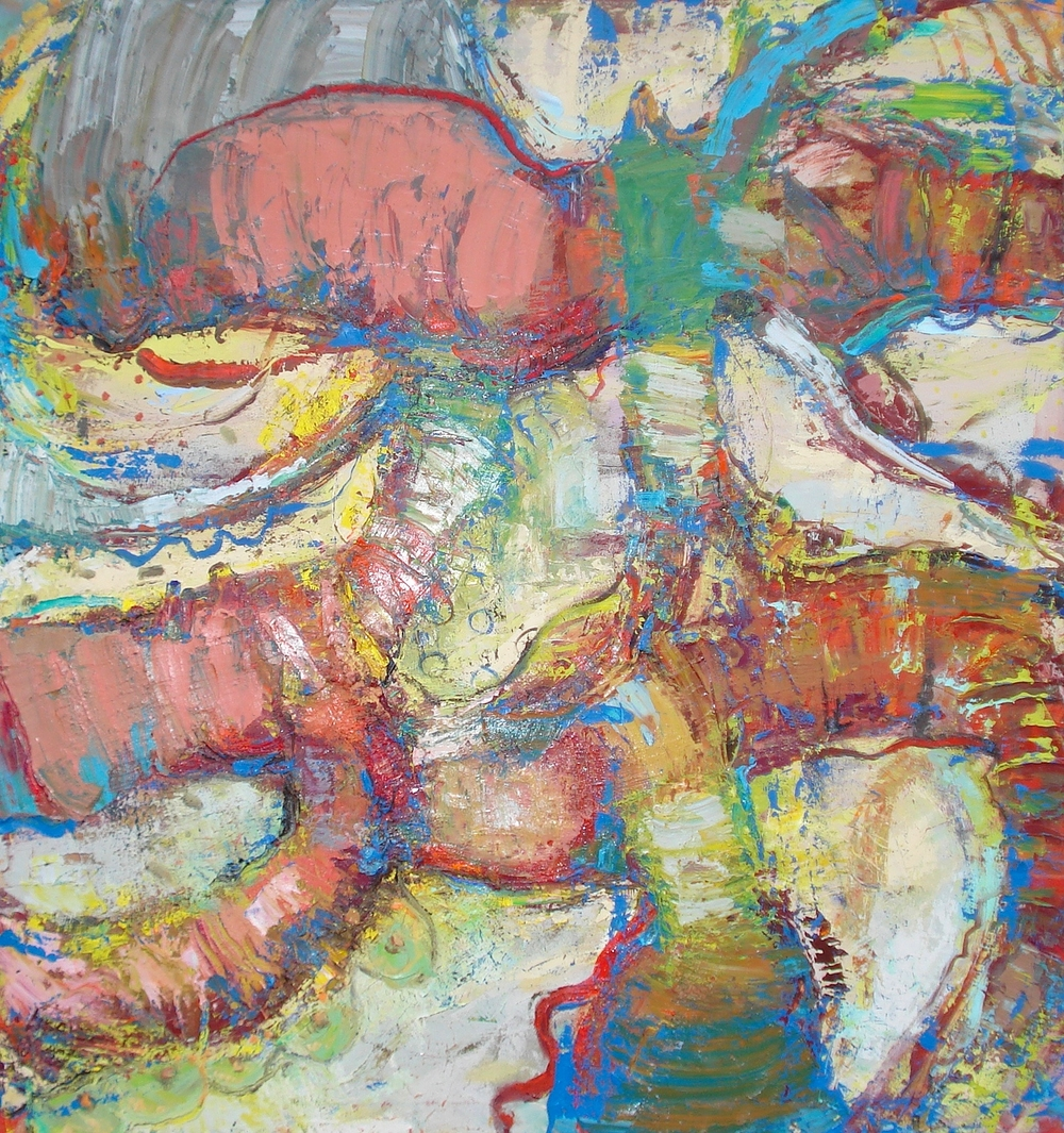 "Good Digestion  oil on canvas, 60"" H X 56""W"