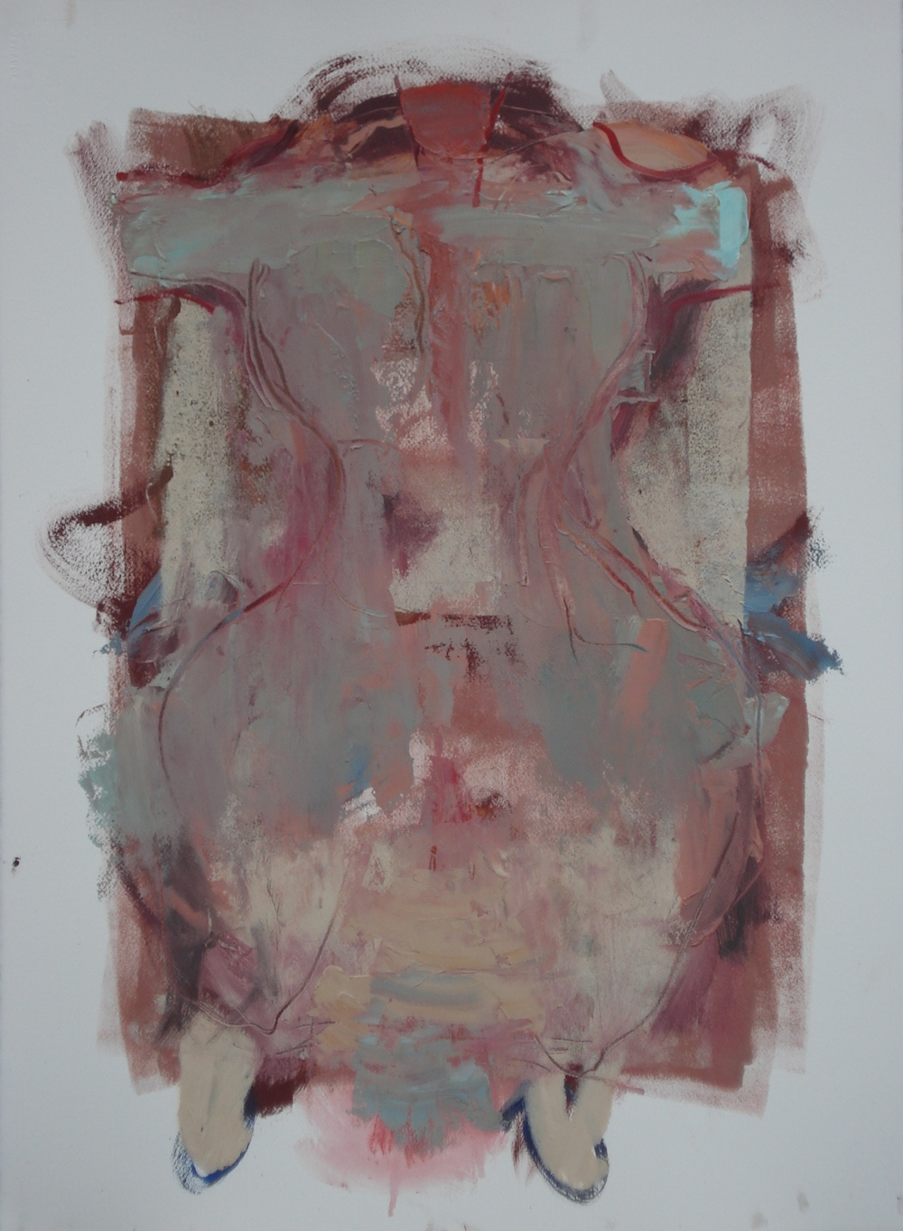 "Body of Work Series (Jacket)  oil on paper, 30""H X 22""W, 2015"