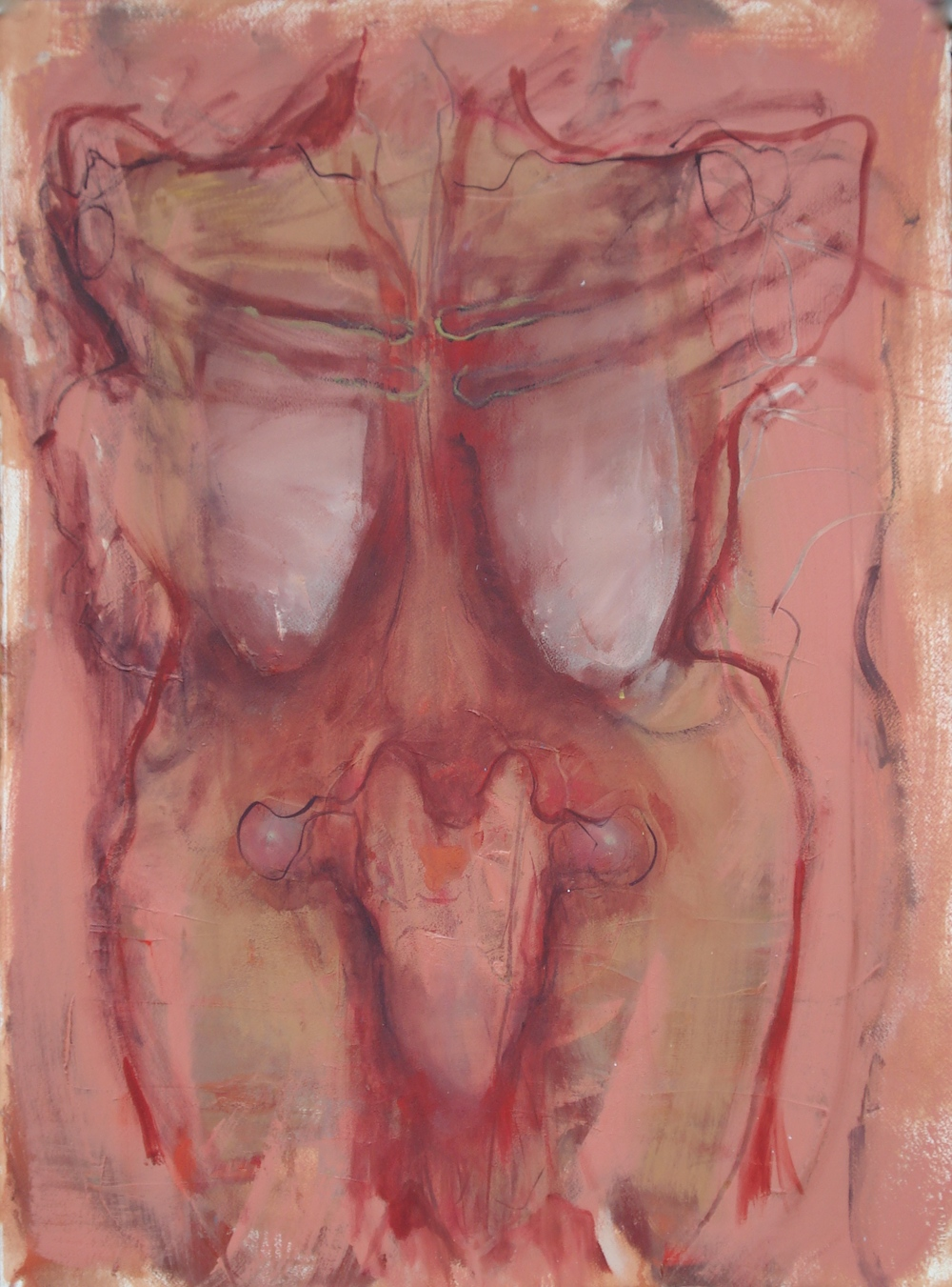 "Body of Work Series (Mother)  oil on paper, 30""H X 22""W, 2015"