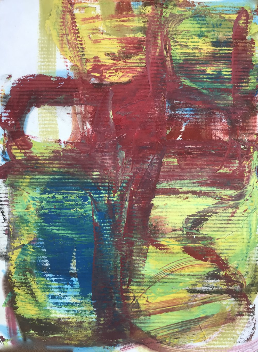 "Small Painting 61C,  oil on Evolon paper 30""H X 22""W (2019)"