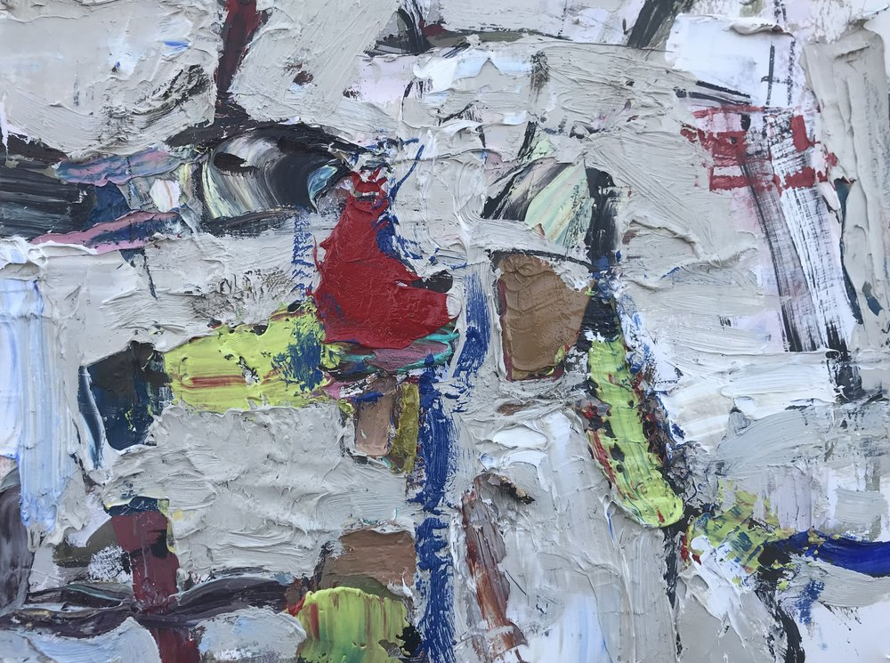 "Small Painting 67A,  oil on paper 9""H X 12""W (2019)"
