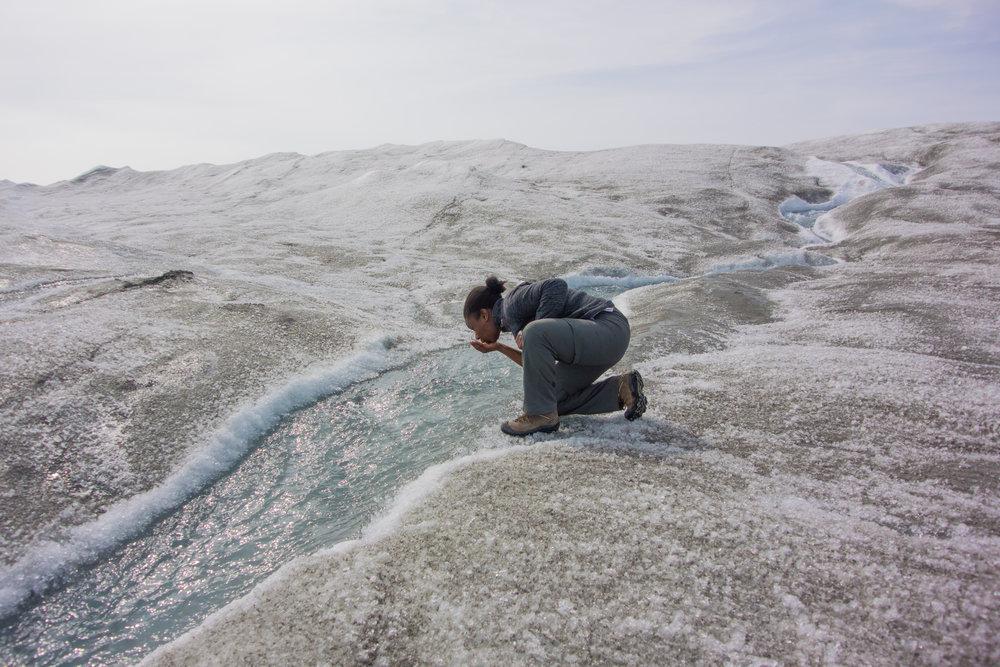 Kendra Pierre-Louis Glacier sipping.jpg