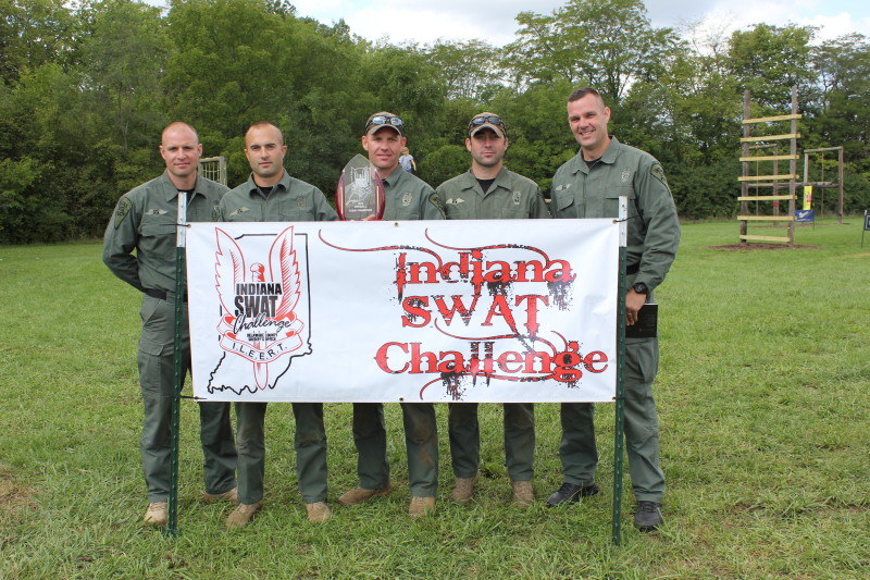 2012 Top Honors went to Indiana State Police North. ISP North finished first in the Team 6 event, the Wild West Shootout and Uncle Scotty's Revenge.