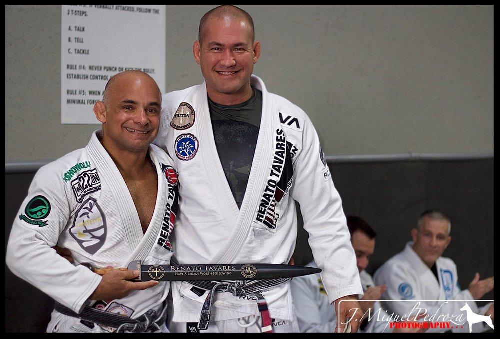 -Master Renato Tavares with Professor Piet Wilhelm