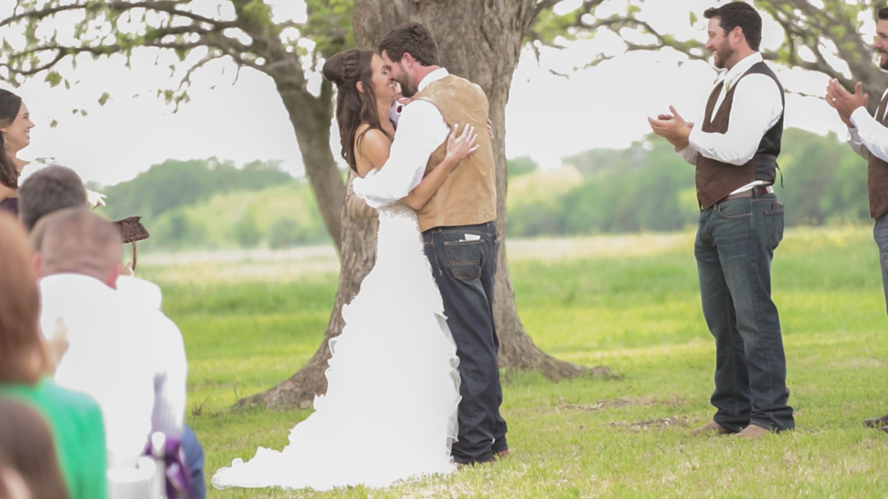 """""""My wedding video is amazing! I love being able to see everything! I think it's the best investment being able to see my wedding in full again and again. Thanks you so much! I love love love it! You are the best :) I can't wait to watch this a million times over!""""   -Brittany + Kane"""