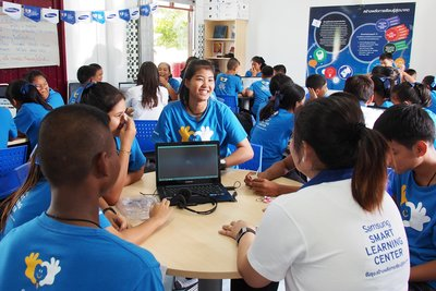 Smart Smart Schools & Tech Institute project carried out by Samsung
