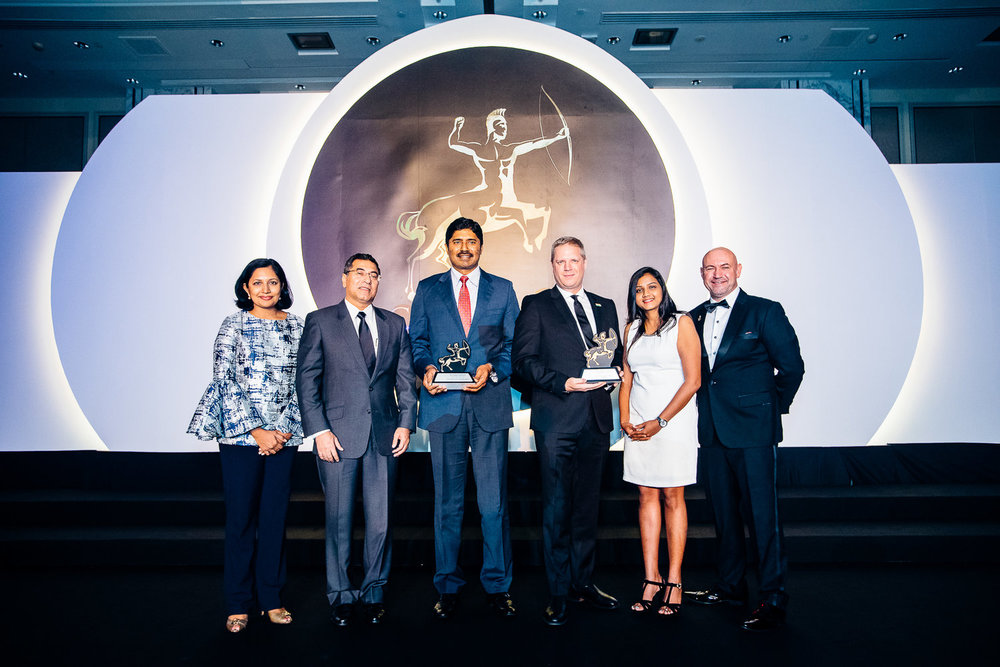 TATA Consultancy Services receiving the award
