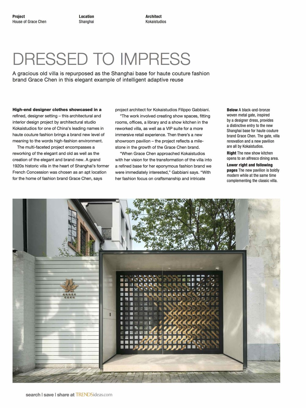 Trends Commercial Design | October 2017 - House of Grace Chen / Kokaistudios