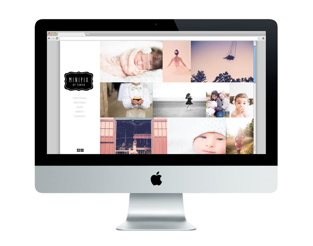 MinipixPhotography.com Homepage Design