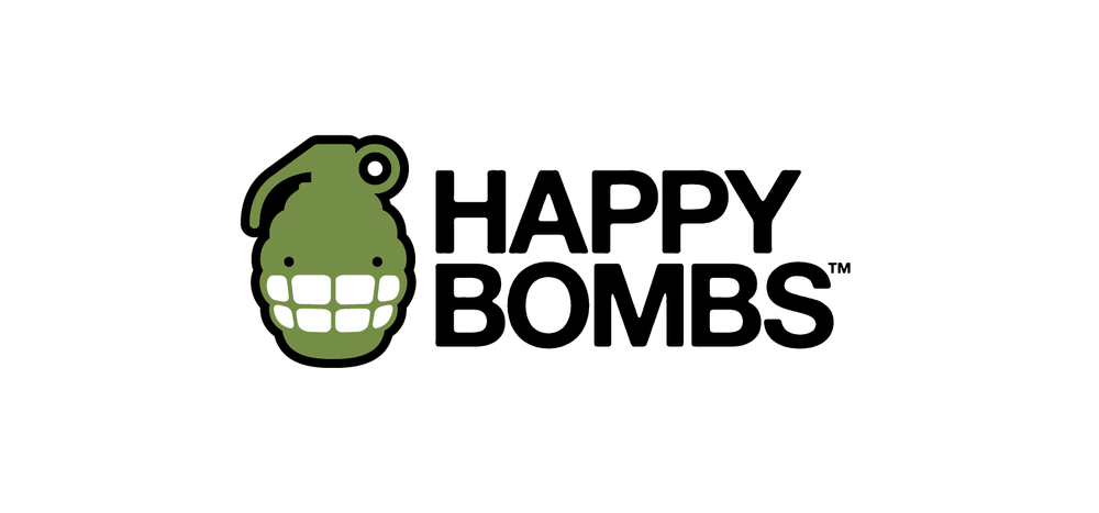 HappyBombs Logo | Designed by Keith Manning and Phil Henson