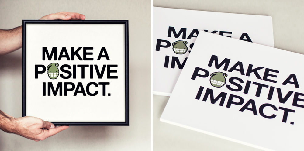Original HappyBomb Positive Impact Screen Print