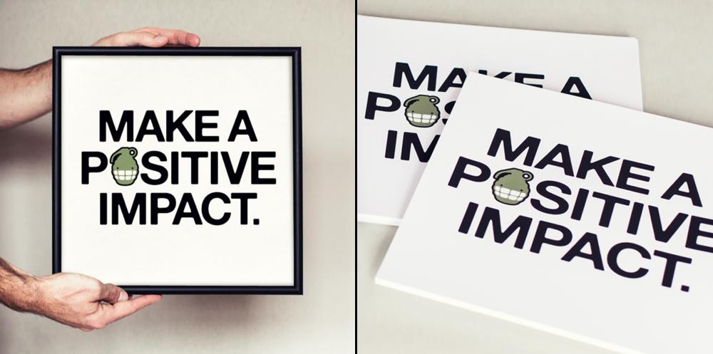 Original HappyBomb Positive Impact Screen Print