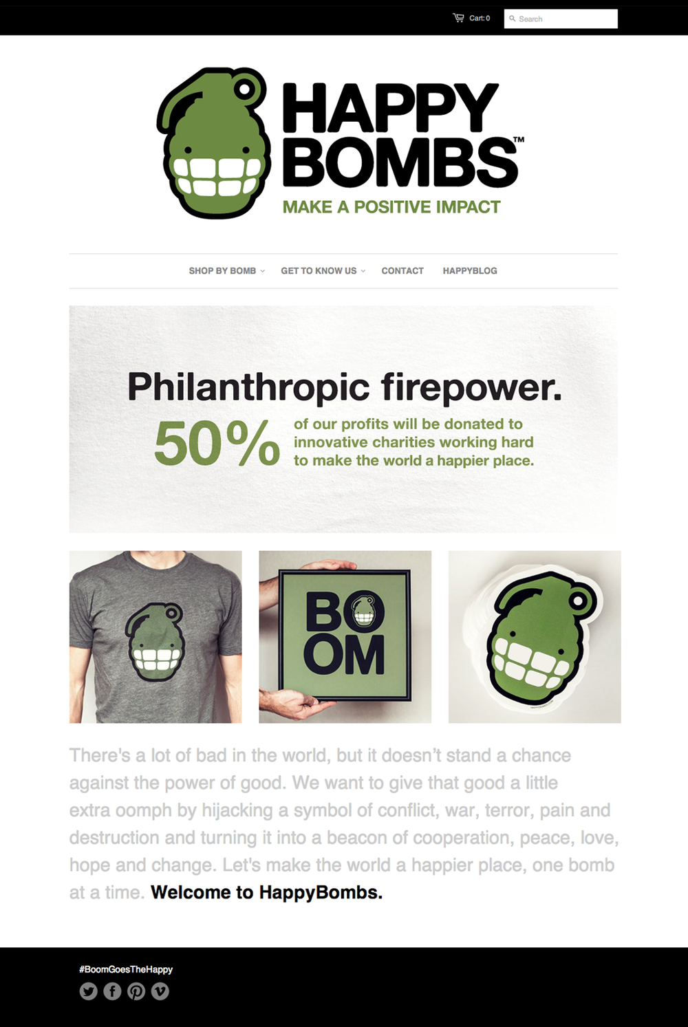 HappyBombs.com Website Desgin