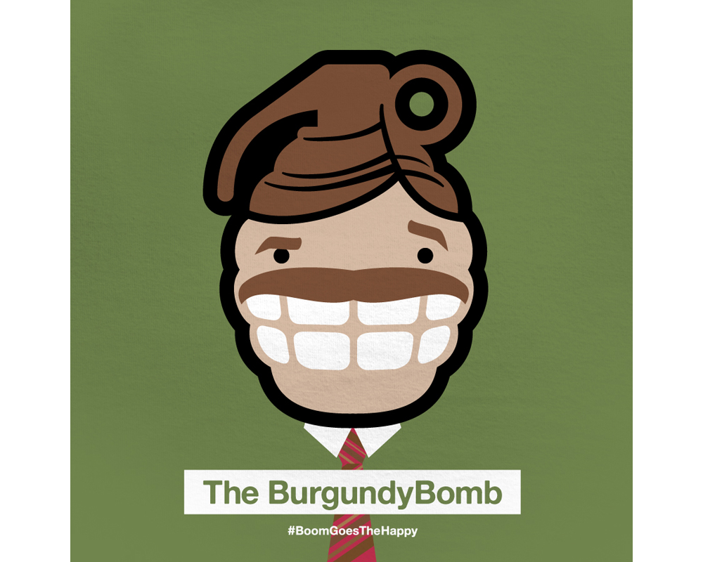 Day 1: The BurgundyBomb | Designed with Phil Davis