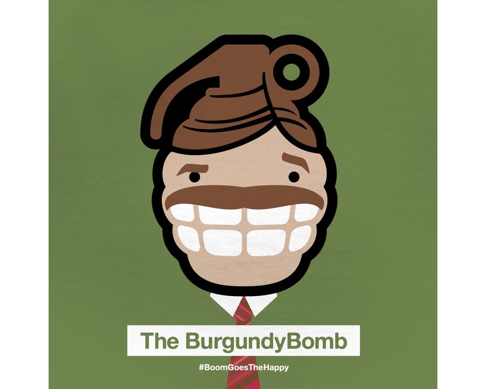 Day 1: The BurgundyBomb| Designed with Phil Davis