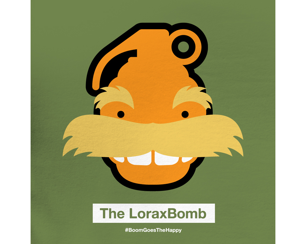 Day 7: The LoraxBomb | Designed with Phil Davis