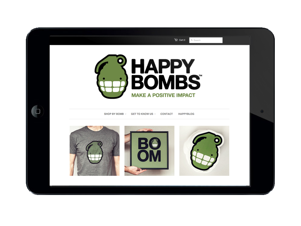 Tablet Version of HappyBombs.com