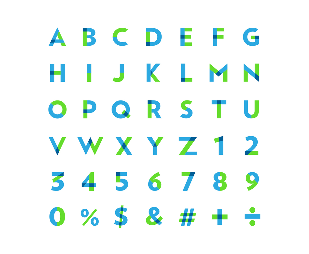 Custom Stencil Typeface