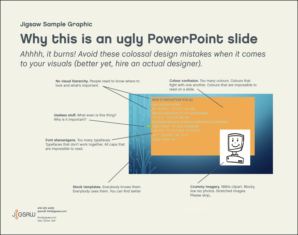 Jigsaw Overview Graphic Why This Is An Ugly PowerPoint Slide Jigsaw - Jigsaw graphic for powerpoint
