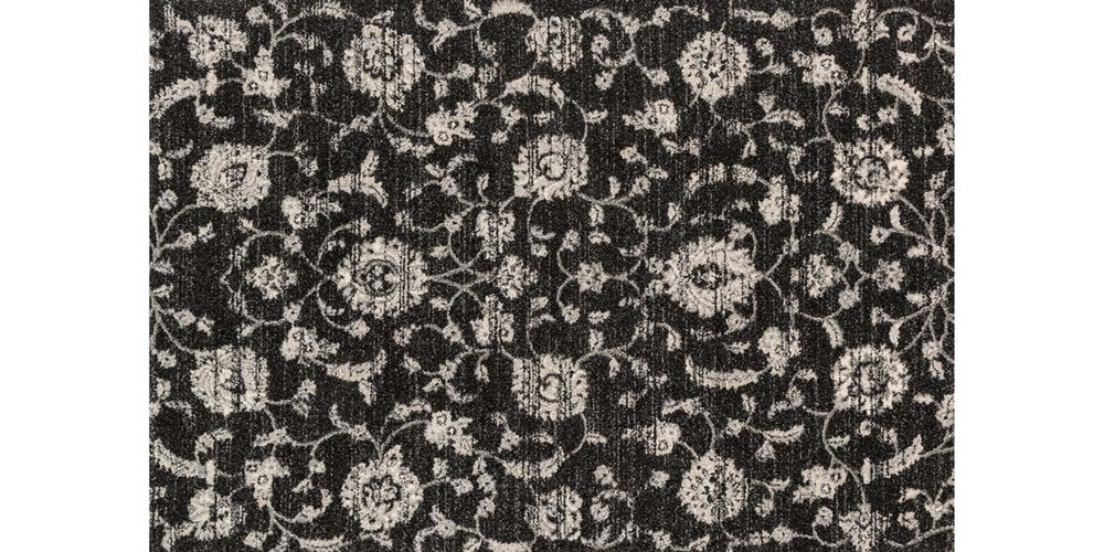 The Emory Collection by Loloi Rugs (shown above is 'EB-07' from the Emory Collection).   This new collection from Loloi Rugs includes high quality (stain and fade resistant!) rugs that are power loomed in Turkey. The Emory Collection consists of a variety of designs all in calming, neutral colors like the black floral one shown above. This rug would be great as an accent piece!