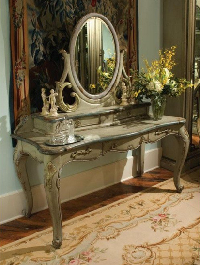 Dressing Tables by Habersham (shown above is 'Michelle's Dressing Table')   This dressing table caught our eyes immediately—it's an antique reproduction and it's just so elegant. This is the sort of dressing table every little girl dreams of having! Habersham offers beautiful furniture in a variety of different styles. All furniture is custom crafted and can be customized to any specifications.