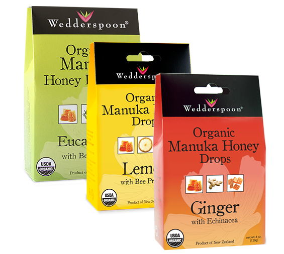 Manuka Honey lozenges are sold individually by flavor or in the Bee Well Gift Set, where you can try them all! The lozenges sooth the throat and are organic, gluten-free, dairy-free, nut-free and Non-GMO!