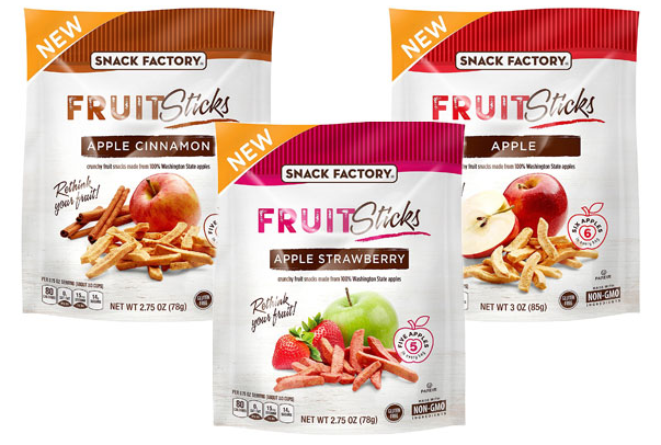 Move over, Veggie straws, there's a new healthy stick on the market: Fruit Sticks by Snyder's-Lance. The Gluten Free, Non-GMO sticks are made from real fruit and are free of added sugar. They are only available in three apple flavors right now, but we hope for more!