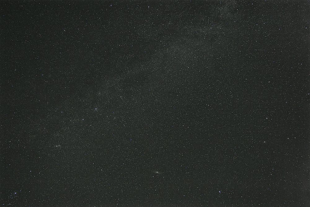 Andromeda, Cassiopeia and Milky Way