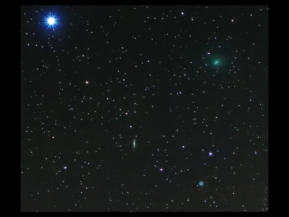 Comet 41P Crossing Ursa Major