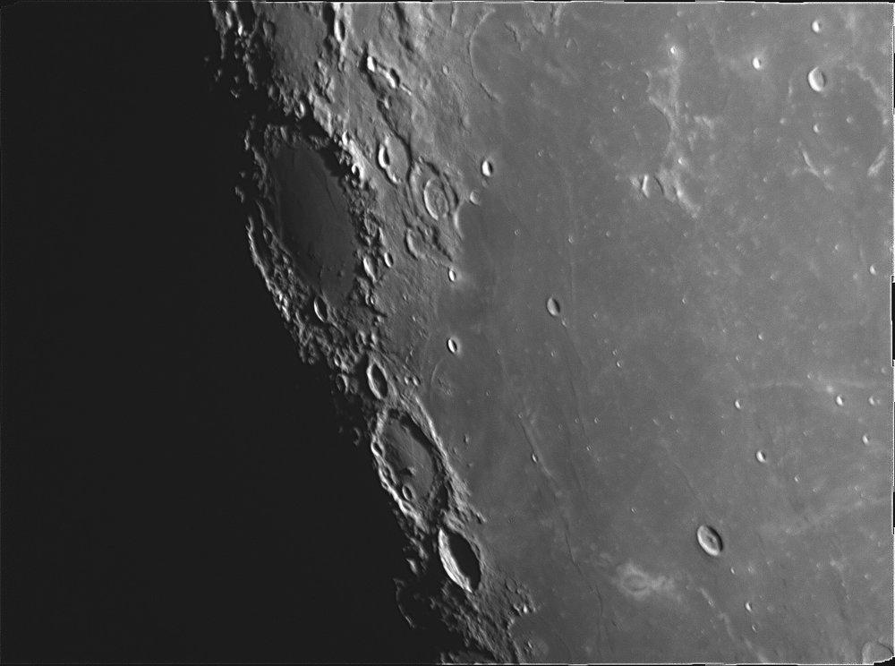 Craters Grimaldi, Lohrman, Hevelius & Cavalerius