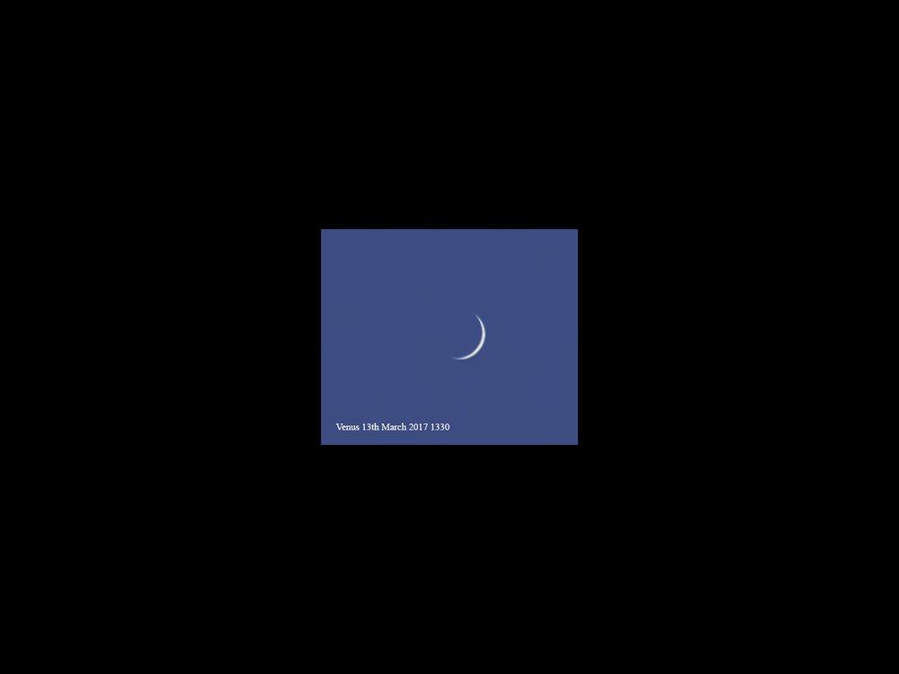 Venus in Daylight – 13th March 2017 13:30