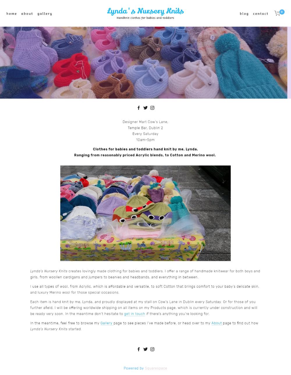 Lynda's Nursery Knits Homepage -