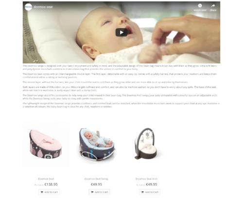 Baby Bean Bag (Doomoo Range) -