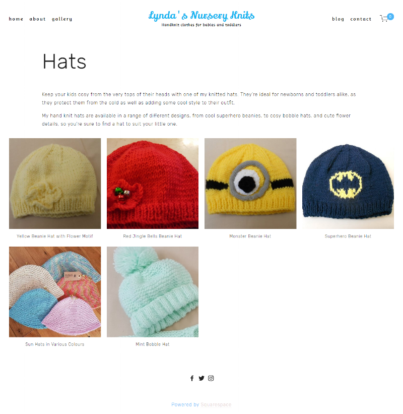 Hats Page -