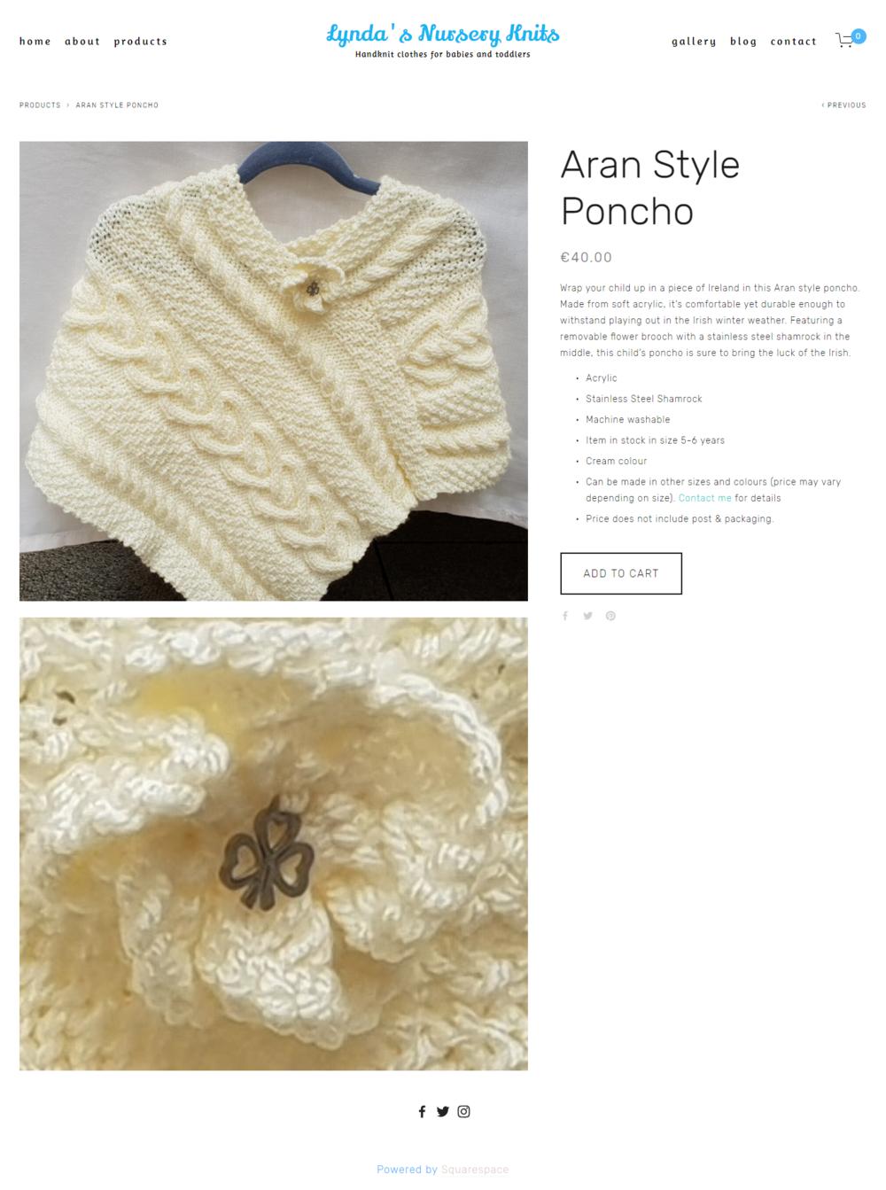 Aran Style Poncho -