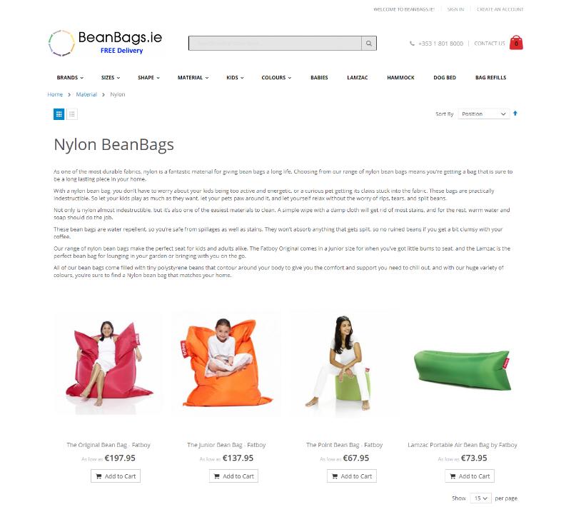 Nylon Bean Bags -