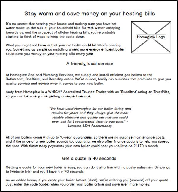 Direct Mail Leaflet -