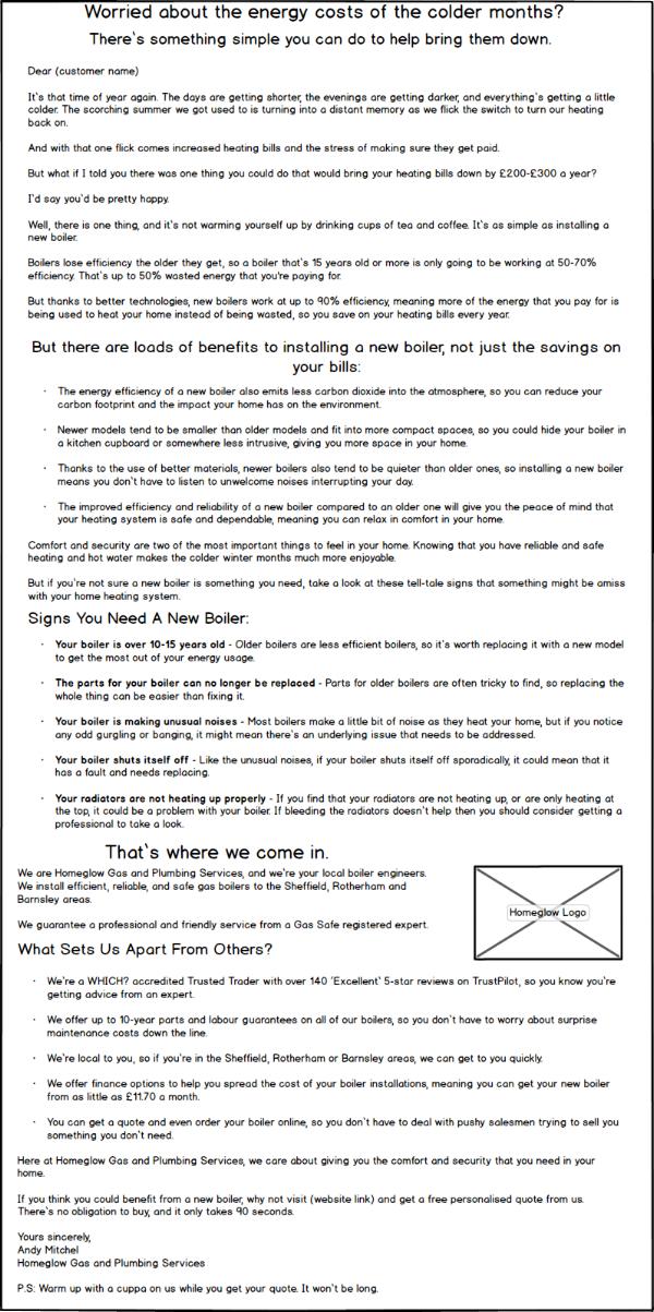 Customer Letter -