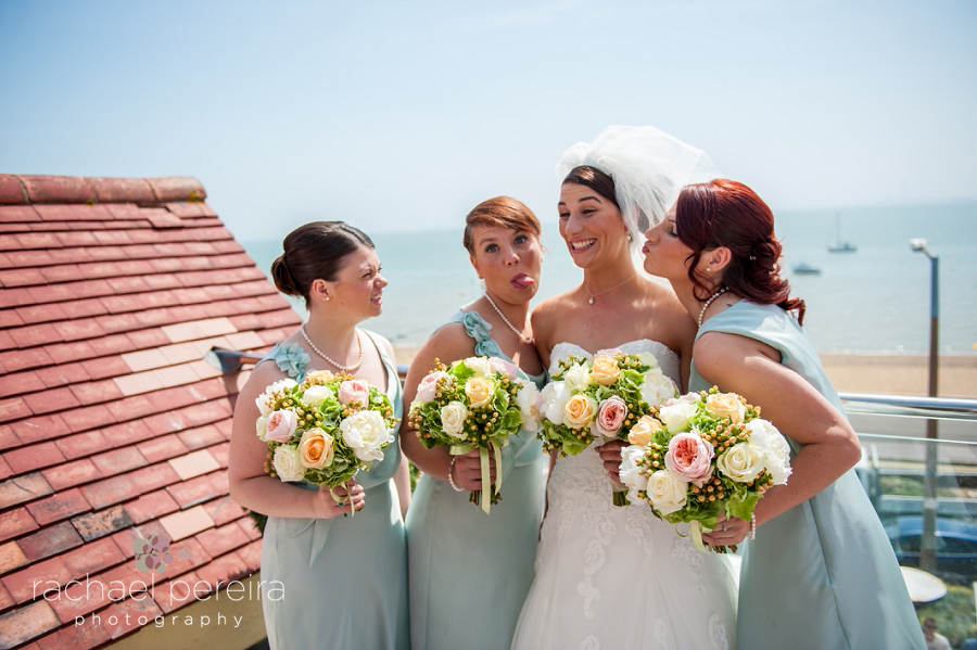 bridesmaids at roslin beach hotel wedding